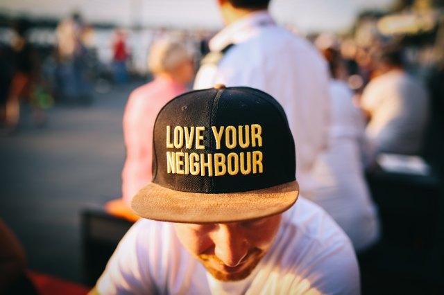 love your neighbor stock photo